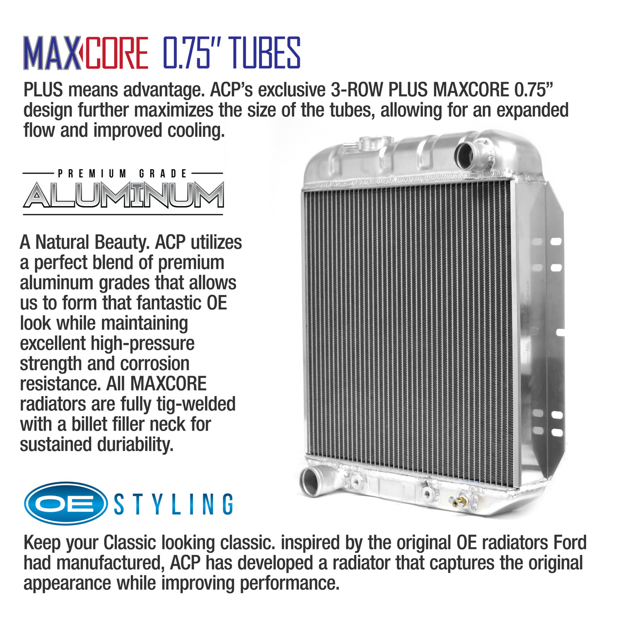 "Maxcore 3-Row Plus Aluminum Radiator 17"" 5.0L Conversion [FM-ER309]"