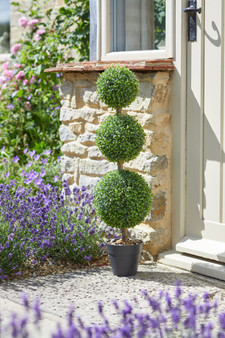 Faux Trio Topiary Tree- Artificial