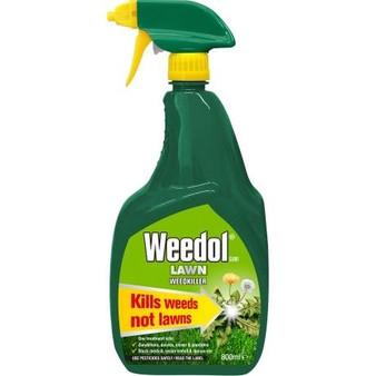 Weedol Gun Lawn Weedkiller 800ml + 25% Extra Free