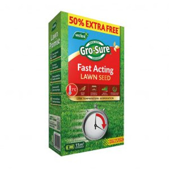 Gro Sure Fast Acting Lawn Seed 10m2 + 50% extra free