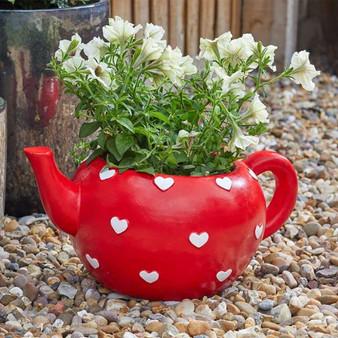 Teapot Heart Planter (5071018)