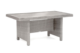 Kettler Palma Glass Top Table - White Wash