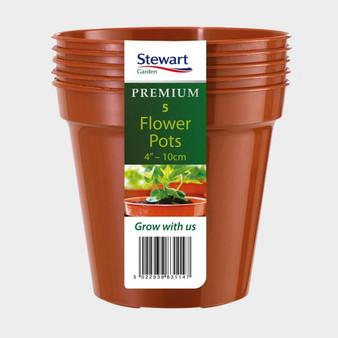 """4"""" Flower Pot - Terracotta - 5 Pack"""