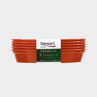 "5/6"" Saucer - Terracotta - 5 Pack"