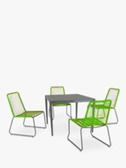 Menos Dining Set 4 Seat Green INCLUDES PARASOL