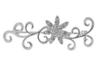 IR Plated Flower Brooch