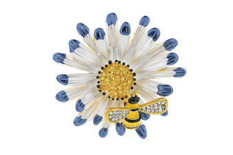 Bee on Flower Brooch