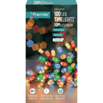 100 TIMELIGHTS MULTI-COLOUR LED