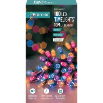 100 TIMELIGHTS RAINBOW LED LIGHTS