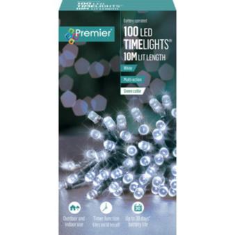 100 TIMELIGHTS WHITE LED LIGHTS