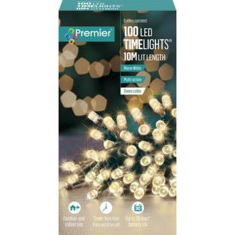100 TIMELIGHTS WARM WHITE LED