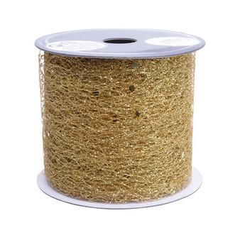 Glitter Ribbon Gold 6.3cm