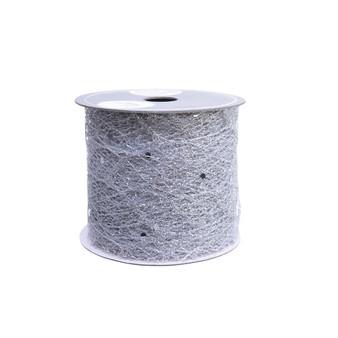 Glitter Ribbon- Silver 6.3cm