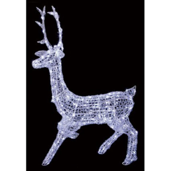 1.4M SOFT ACRYLIC STAG -WHITE