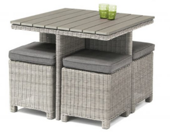 Kettler Palma Cube Set with Polywood Table Whitewash DUE EARLY SUMMER