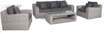 Kettler Palma Luxe Lounge Set Whitewash DUE EARLY SUMMER