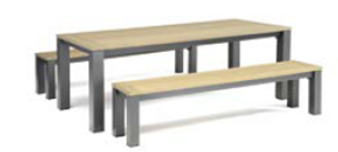 Kettler Elba Dining Set With Benches DUE EARLY SUMMER