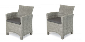 Kettler Palma DIning Chairs Whitewash Pair DUE EARLY SUMMER