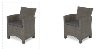 Kettler Palma DIning Chairs Rattan Pair DUE EARLY SUMMER