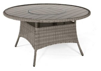 Kettler Palma 6 Seat Round Dining Table with Lazy Susan Rattan DUE EARLY SUMMER