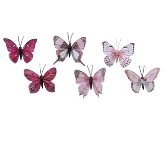 Feather Butterflip Clip- Pink