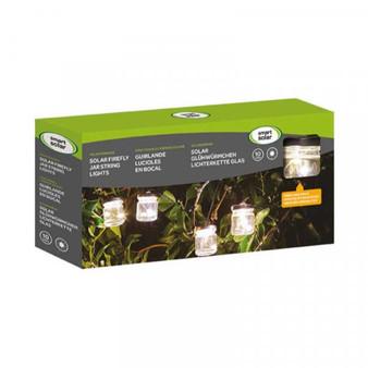 Firefly Jar Solar String Lights – Set of 10