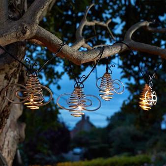 10 Bee Solar String Lights