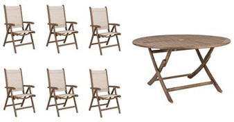 Sherwood 6 Seat Set with Round Table