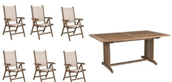 Sherwood 6 Seat Set with Rectangle Table