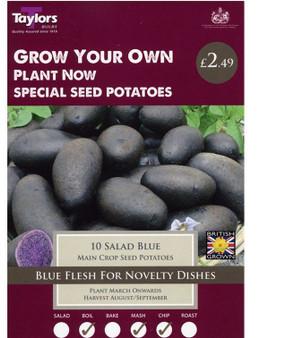 Salad Blue (Main Crop) Seed Potatoes