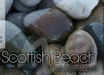 Scottish Beach Pebbles 30-50mm- 20Kg