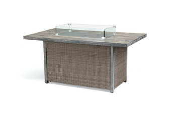 Kettler Palma Fire Pit Table - Rattan 2020 Edition Concrete Top