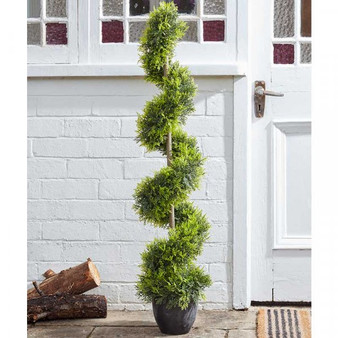 Cypress Topiary Twirl-Artificial