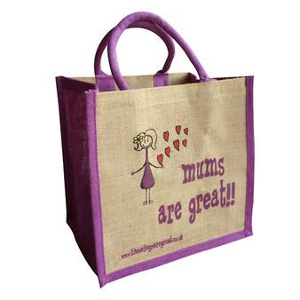 'Mums are Great' Jute Bag