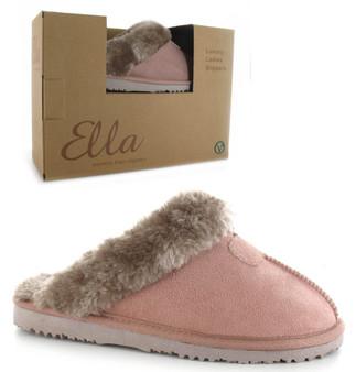 Ladies Memory Foam Comfort Slipper- Jill- Mink
