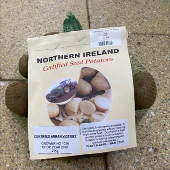 Northern Ireland Seed Potatoes- Arran Victory 2KG