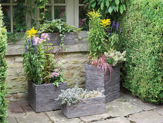 Driftwood Pots Rustic Garden Pots (Tall)
