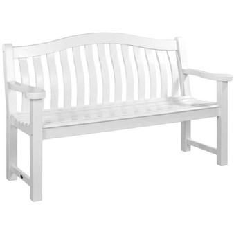 White Painted Acacia Turnberry Bench 5ft