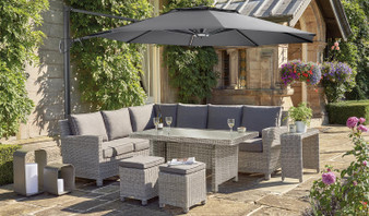 Kettler 3.3m Parasol with LED lights and Bluetooth Speaker