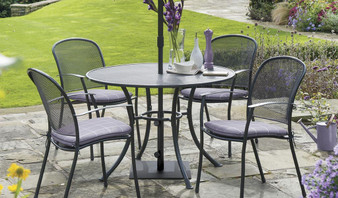 Kettler Caredo 4 Seat Set with Cushions, Parasol & Base DUE EARLY SUMMER