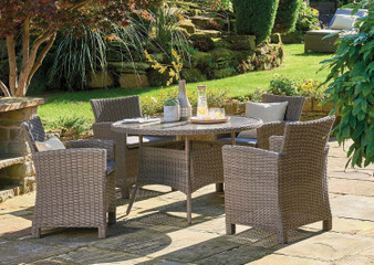 Kettler Palma 4 Seat Dining Set - Rattan DUE EARLY SUMMER