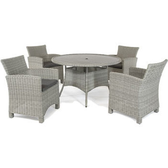 Kettler Palma 4 Seat Dining Set - White Wash DUE EARLY SUMMER
