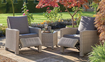 Kettler Palma Duo Relaxer Set - White Wash  DUE EARLY SUMMER
