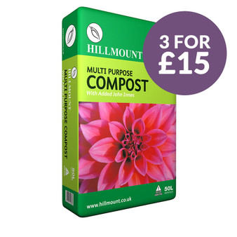 3 For £15 Offer - Hillmount Multi Purpose Compost with John Innes 50 Litres