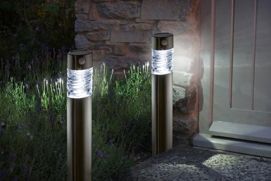 Solar Light Pharos Stainless Steel pir Bollard Light 50 lumen