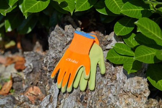 Gloves Kid Junior Diggers 6-10Yrs Orange & Green