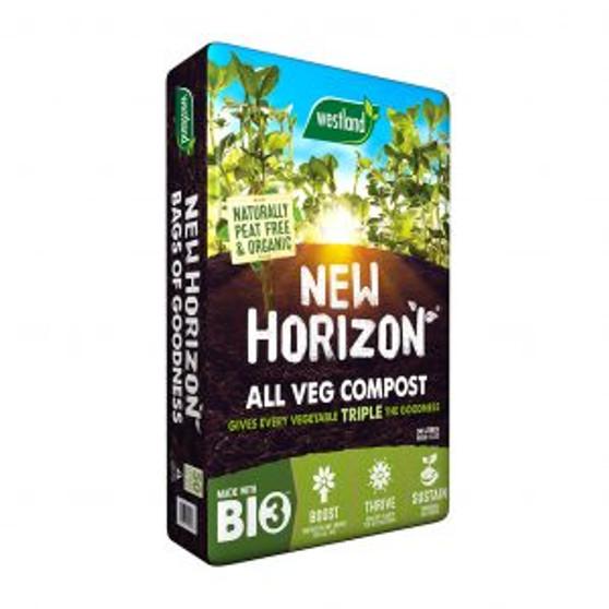 New Horizon All Veg Compost Peat Free 50L