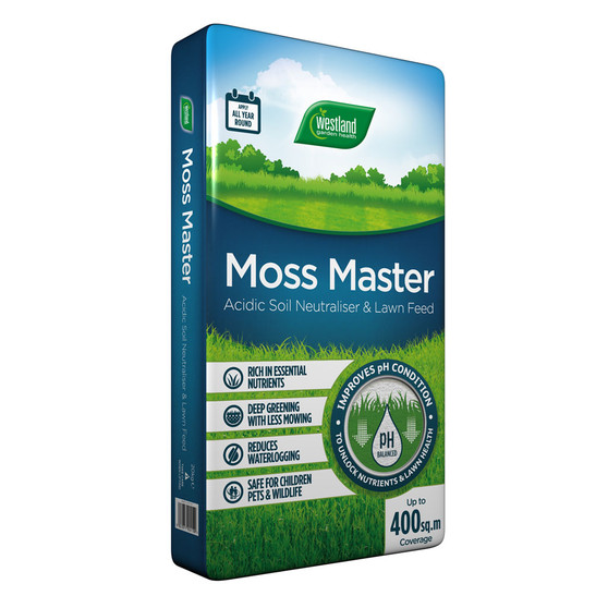 Moss Master (Soil Neutraliser and Lawn Feed) Blue Bag 400m2