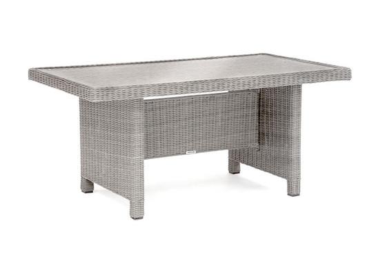 Kettler Palma Glass Top Table - White Wash