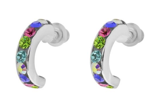 Multi Colour Stones Hoops